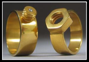 Házasság gyűrűk, csavar-anya