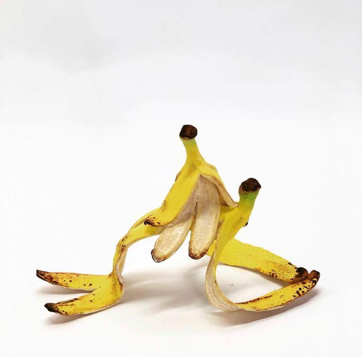 Banánszobrászat