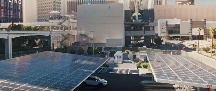 Tesla töltők Las Vegasban