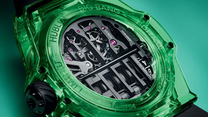 Smaragd zöld Hublot Big Bang MP-11 SAXEM