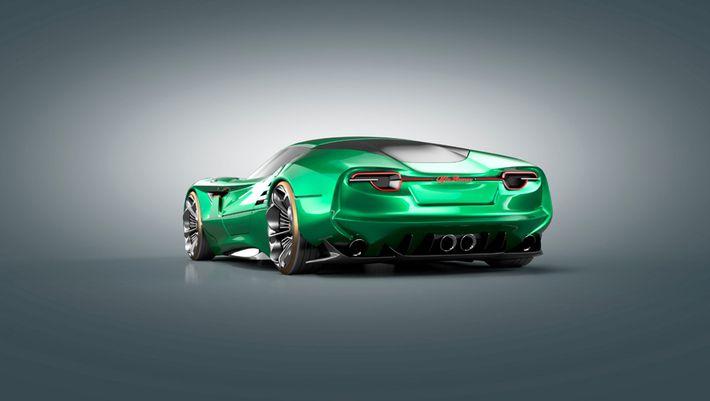 Luca Serafini Alfa Romeo Montreal Vision GT víziója
